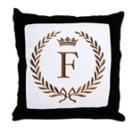 Napoleon initial letter F monogram Throw Pillow