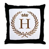 Napoleon initial letter H monogram Throw Pillow
