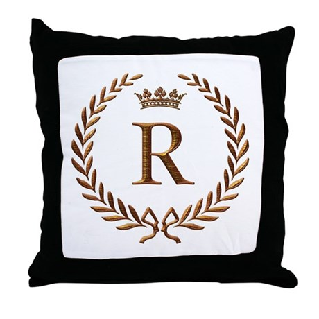 Napoleon Initial Letter R Monogram Throw Pillow By Jackthelads