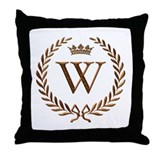 Napoleon initial letter W monogram Throw Pillow