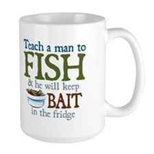 Teach a Man to Fish Mug