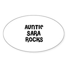 AUNTIE SARA ROCKS Oval Decal