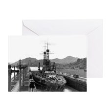 Cute Navy battleships Greeting Card