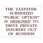 "16x20 ""Public Option"" (Trojan Horse) Pos"