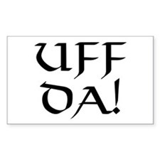Uff Da! Rectangle Decal