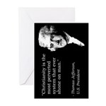 Jefferson Quote Greeting Cards (Package
