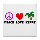 Peace Love Kenny Tile Coaster