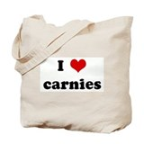 I Love carnies Tote Bag