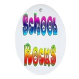 School Rocks Oval Ornament