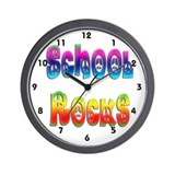 School Rocks Wall Clock