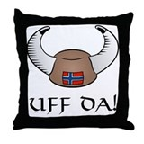 Uff Da! Viking Hat Throw Pillow