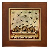 Beekeeping 15th Century Framed Tile