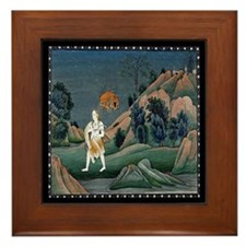 Shiva Carrying Sati Framed Tile