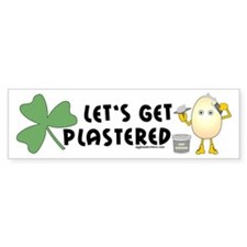 Plastered Shamrock Bumper Car Sticker