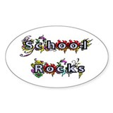 School Rocks Oval Decal