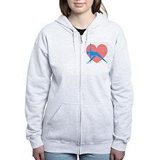 Love Triangle Zip Hoodie