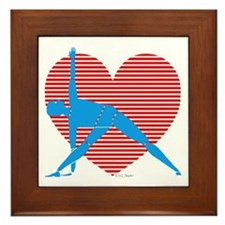 Love Triangle Framed Tile