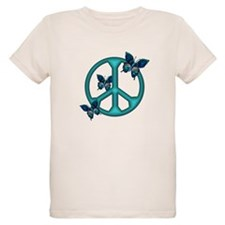 Peaceful Blue Butterflies Pea T-Shirt