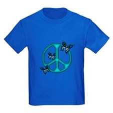 Peaceful Blue Butterflies Pea T