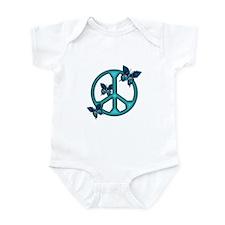 Peaceful Blue Butterflies Pea Infant Bodysuit