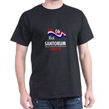 Santorum 06 Black T-Shirt