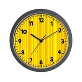 Yellow Strip Wall Clock