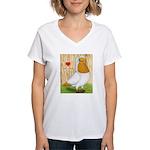 I Heart Nuns Women's V-Neck T-Shirt