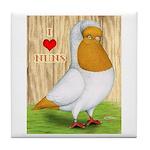 I Heart Nuns Tile Coaster