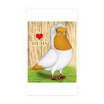I Heart Nuns Rectangle Sticker 50 pk)