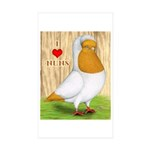 I Heart Nuns Rectangle Sticker 10 pk)