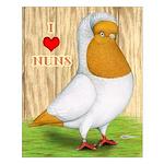 I Heart Nuns Small Poster