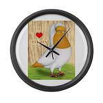 I Heart Nuns Large Wall Clock
