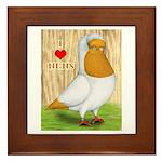I Heart Nuns Framed Tile
