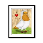 I Heart Nuns Framed Panel Print