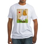 I Heart Nuns Fitted T-Shirt