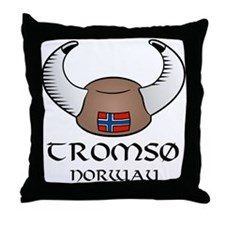 Tromso Norway Throw Pillow