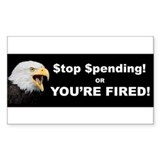 Stop Spending Bumper Decal