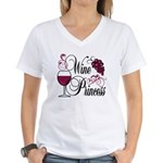Wine Princess Women's V-Neck T-Shirt