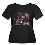 Wine Princess Women's Plus Size Scoop Neck Dark T-