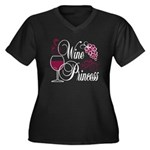 Wine Princess Women's Plus Size V-Neck Dark T-Shir
