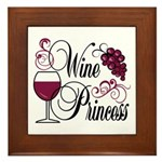 Wine Princess Framed Tile