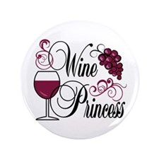 "Wine Princess 3.5"" Button (100 pack)"