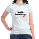 Kiss Me, I'm Japanese Jr. Ringer T-Shirt