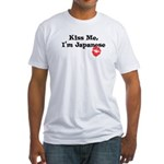 Kiss Me, I'm Japanese Fitted T-Shirt
