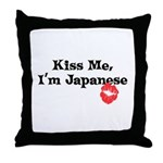 Kiss Me, I'm Japanese Throw Pillow