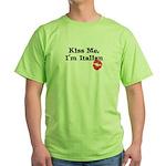 Kiss Me, I'm Italian Green T-Shirt