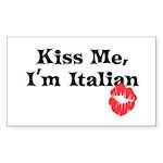 Kiss Me, I'm Italian Rectangle Sticker