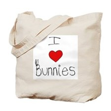 I Heart Bunnies Tote Bag
