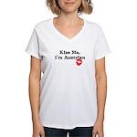 Kiss Me, I'm Austrian Women's V-Neck T-Shirt