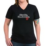 Kiss Me, I'm Austrian Women's V-Neck Dark T-Shirt